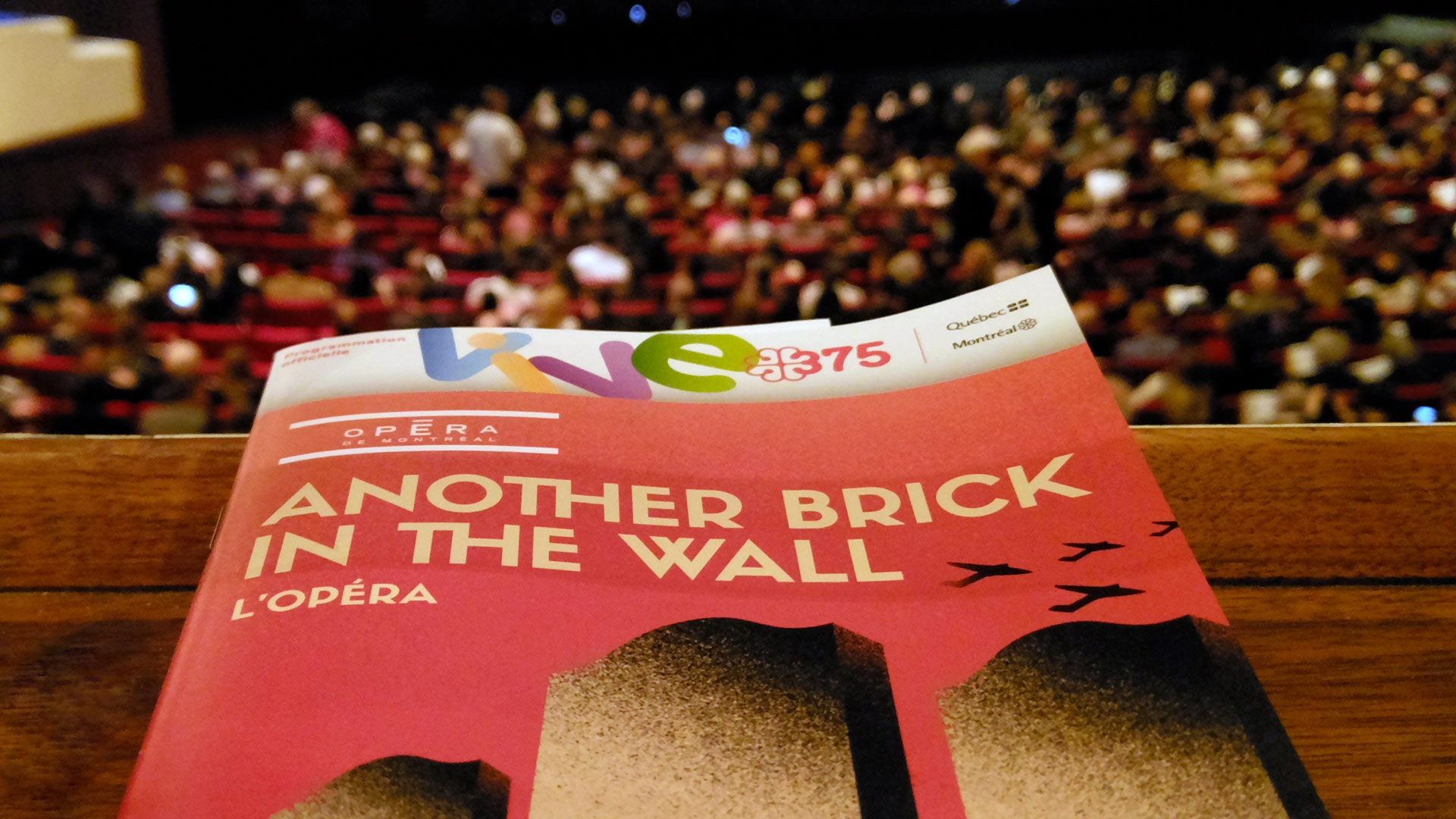 Another Brick in the Wall – Opéra de Montréal