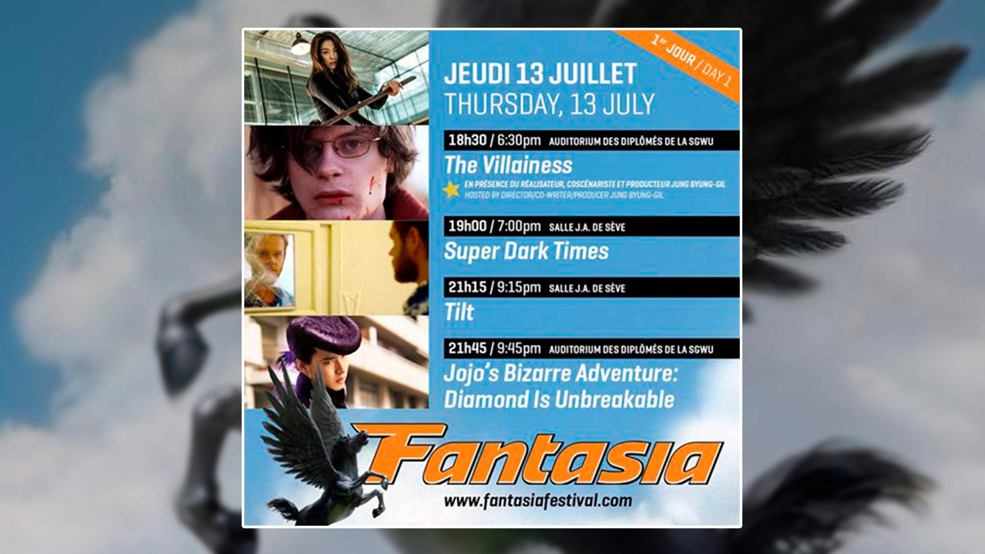 Fantasia : Jour 1